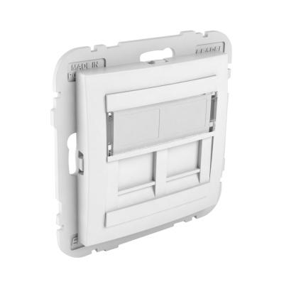 90442 Kryt dvojité datové zásuvky (pro RJ45 konektory) SBR – bílá