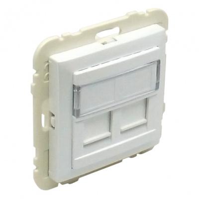 90442 Kryt dvojité datové zásuvky (pro RJ45 konektory) SGE – ledová