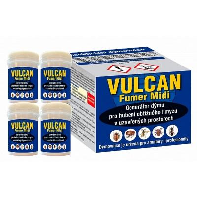 Vulcan Fumer Midi - 4 dýmovnice - pro hubení štěnic (Vulcan Fumer Midi - 4 dýmovnice - pro hubení štěnic a dalšího obtížného hmyzu)