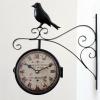 Nádražní hodiny oboustranné France s ptáčkem