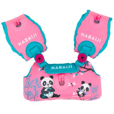 NABAIJI Dětský plavecký pás s rukávky Tiswim růžový s pandami