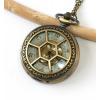 1d7a146cf MR Kapesní Hodinky na řetízku - Hexagonal Elegant Gold style 2260