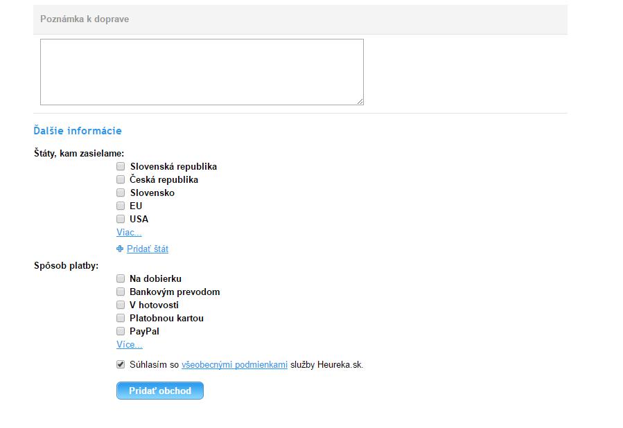 Ukážka formulára pri pridaní nového e-shopu f1781f672ed
