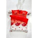 c5a52a2a2 FARO satén obliečky Srdiečka červené Bavlna 200x220 2x70x80