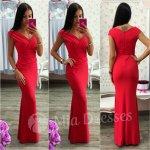 Spoločenské priliehavé šaty červená