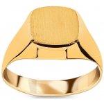 55d14e447 iZlato Forever Zlatý pánsky pečatný prsteň s matovaním IZ15776