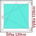 Soft Plastové okno 120x110 cm, otváravé a sklopné