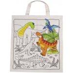 Goki Bavlnená taška na vymaľovanie Dinosaury