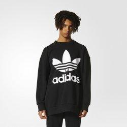 Adidas Originals TREFOIL CREW Pánska mikina černá od 41 3c9b303daf5