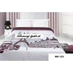 Mariall Prehoz na posteľ NO133 biela a bordová 170x210cm