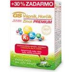 GS Vápnik Horčík Zinok Premium 130 tabliet