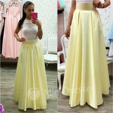 Dámska dlhá sukňa žltá