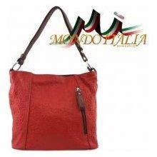 2f14d3e9fd Made In Italy kožená kabelka 863 červená