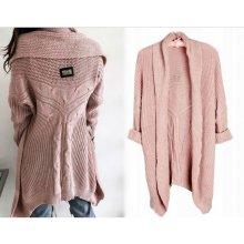 5ef0f59611f1 Fashionweek Italský teplý svetr velmi originální střih MD68 K6 Ružový