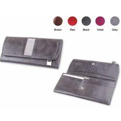 9f123bce5 dámska kožená peňaženka dámska kožená peňaženka so Swarovski kryštálmi, šedá .
