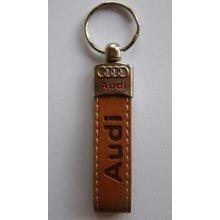 Prívesok na kľúče koženková Audi(hnedá) 524f7848733