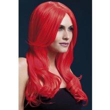 Fever Khloe Wig 42547 Paruka Neonovo-červená