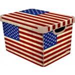Curver box úložný dekoratívny L AMERICAN FLAG