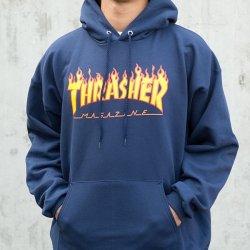 3b6bc42e5157 Thrasher Flame Logo Hoodie Navy Blue od 62