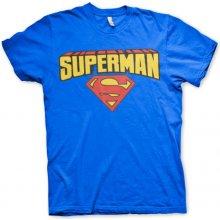 AB Pánske tričko Superman Blockletter Logo Žltá 7fc473ec0e