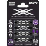 Batéria Sanyo Eneloop 2500mAh AA 4ks HR-3UWX