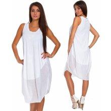 06c596b970be Nádherné módne letné bavlnené šaty BOHO ITALY TC665 Biela