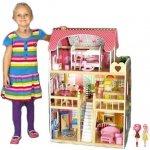 Eco toys drevený domček pre bábiky typu Barbie