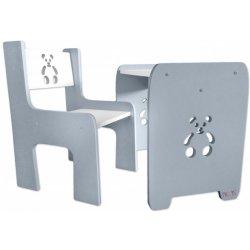 01afa9601e00 Nellys sada nábytku Teddy stôl + stoličky šedá s bílou od 69