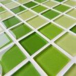 MOSAGRES No-210 Mozaika 30 x 30 cm sklo světle zelený mix