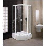 Kolo Fresh soft sprchovací kút štvrťkruhový 90x90 cm, farba profilu biela, výplň bezpečnostné číre sklo DKPG90222000