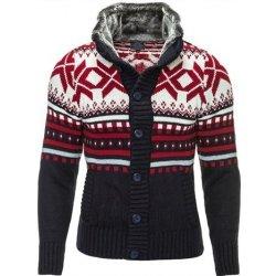 d4538b8108e6 Pánsky pletený sveter s nórskym vzorom CARISMA   Navy alternatívy ...