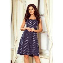 0c1e88630 Dámske šaty Numoco Stella 241-1 modré bodkované Tmavomodrá