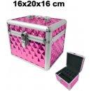 Kozmetický kufrík Top-Nechty Kozmetický kufrík s ružovým 3D vzorom 4604