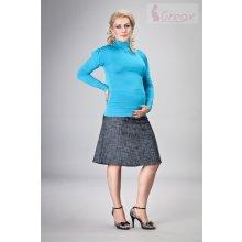 Elegantná tehotenská sukňa denim granát