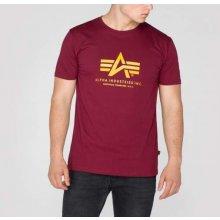 Alpha Industries Basic T Shirt Burgundy tričko pánske