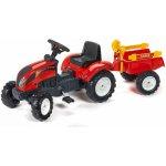 FALK 2051C Ranch Trac červený s vlečkou a lopatkou s hrabličkami