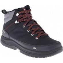 7a7ef8b83 QUECHUA Pánska turistická obuv SH100 do snehu teplá a nepremokavá čierna