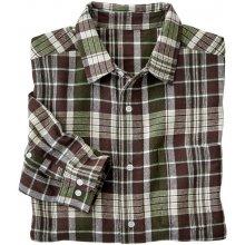 Blancheporte Flanelová košeľa s dlhými rukávmi, hnedá kocka gaštanová