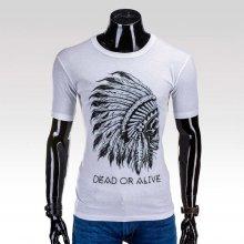 Ombre clothing pánske tričko Apache biele