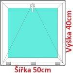 Soft Plastové okno 50x40 cm, sklopné