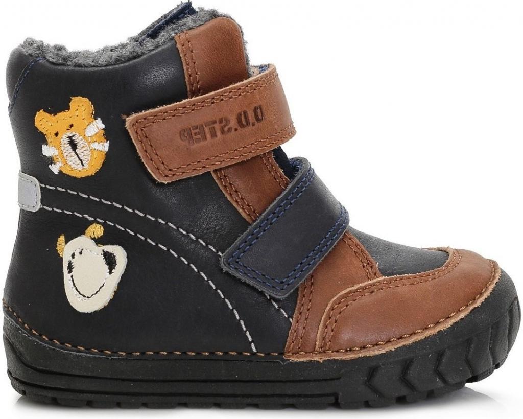 f05389a67 D.D.step Chlapčenské zimné topánky so zvieratkami modro-hnedé alternatívy -  Heureka.sk