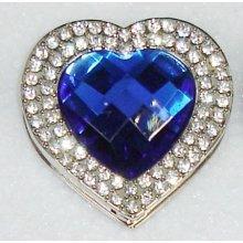 Háčik na kabelku Exclusive - modre srdce