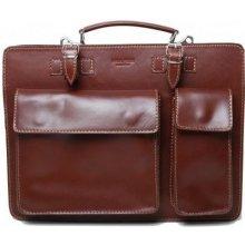 Talianska pánska veľká kožená kabelka do ruky hnedá Ermin 6621b0c249a