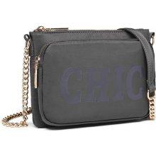 kabelka Chic crossbody s retiazkou šedá 1857a4f5c53