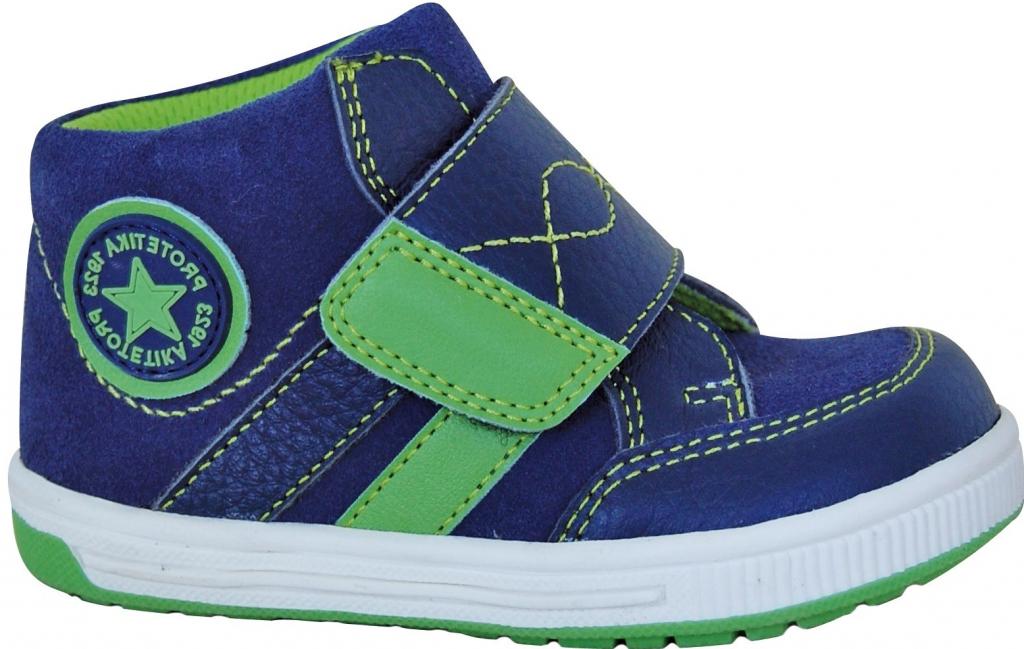 0142d1ee5569 Protetika Chlapčenské členkové tenisky Raft modro-zelené od 28