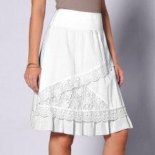 Blancheporte dámska ssymetrická volánová sukňa biela