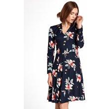 4165d3b98a9e Nife Dámske šaty s109 flowers navy blue