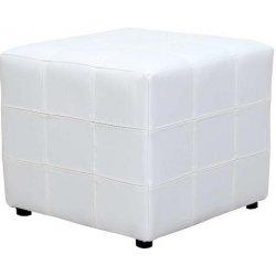 c1fdc40db Recenzie Tempo Kondela Taburet, biela textilná koža, NELA - Heureka.sk