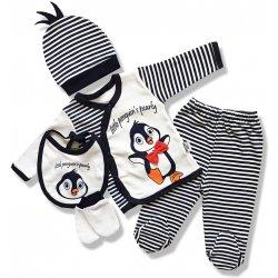 ee9b8a6b9778 NECIX´S 5dielna kojenecká súprava Tučniak Velkosť  od 9