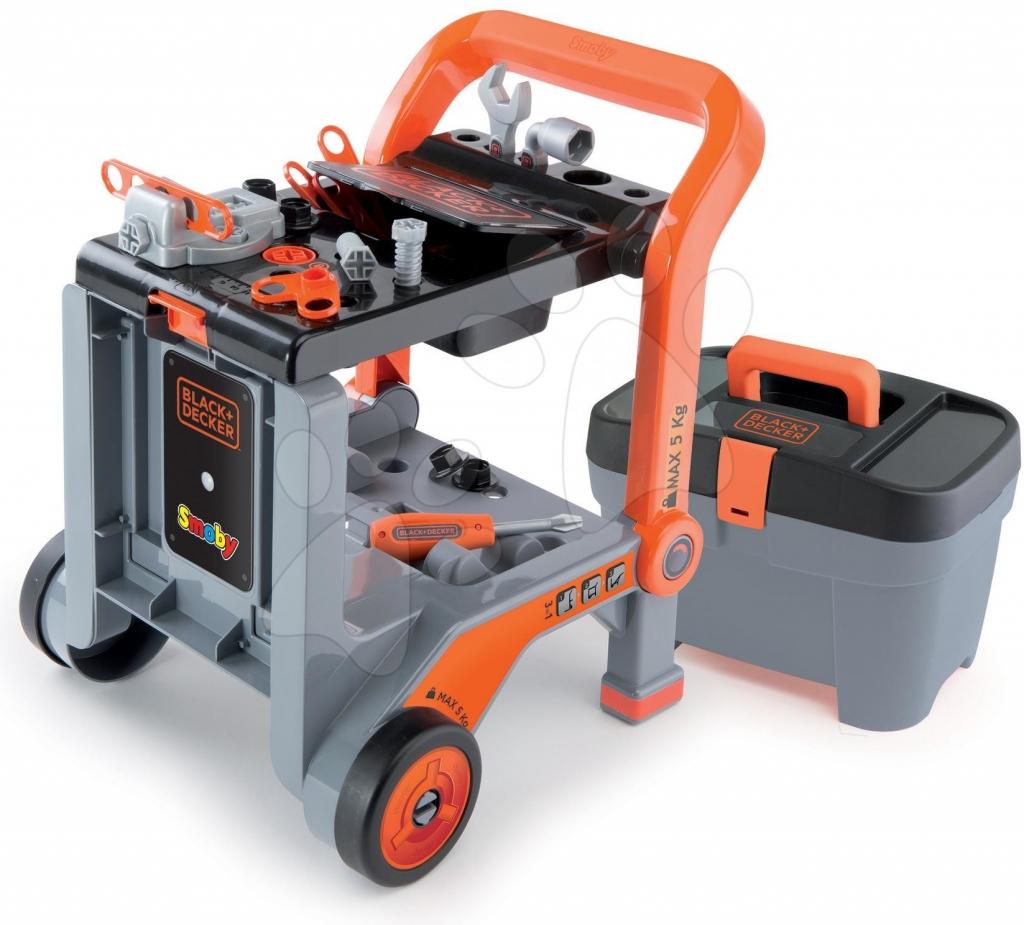 b39e43645 SMOBY 500187 Detský pracovný vozík 3v1 Black&Decker